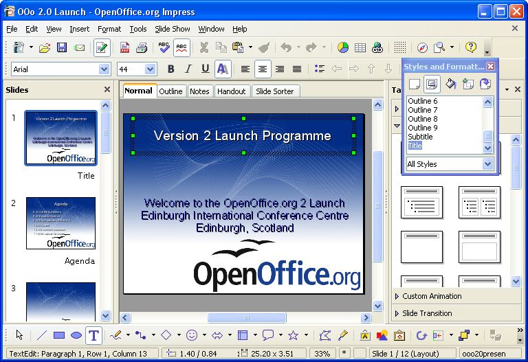 Apache OpenOffice v3.0.0 Beta 2 RC 1 screenshot 1 / 5