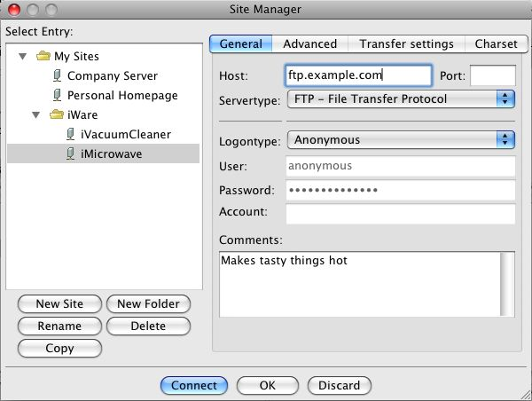 filezilla mac os 10.4