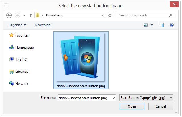 Download door2windows windows 8 1 start button changer v1 for Door to windows
