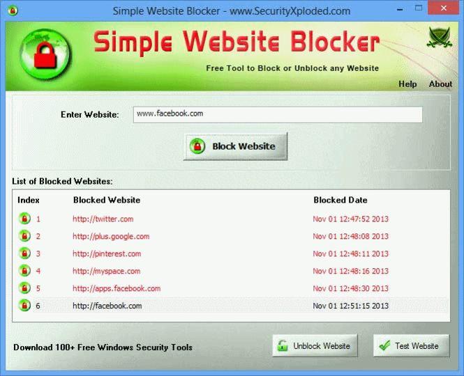 Simple website blocker download