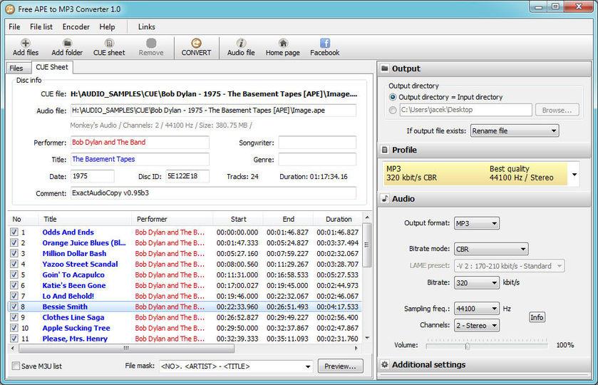 Download Pazera Free APE to MP3 Converter (portable) v1 0 (freeware