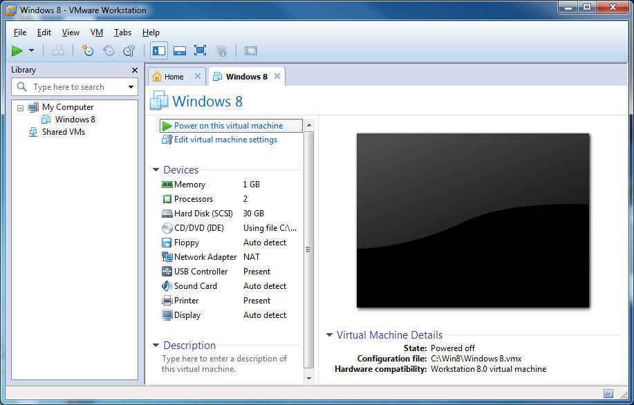 Install Windows 8 Dev Preview in VMware Workstation - AfterDawn