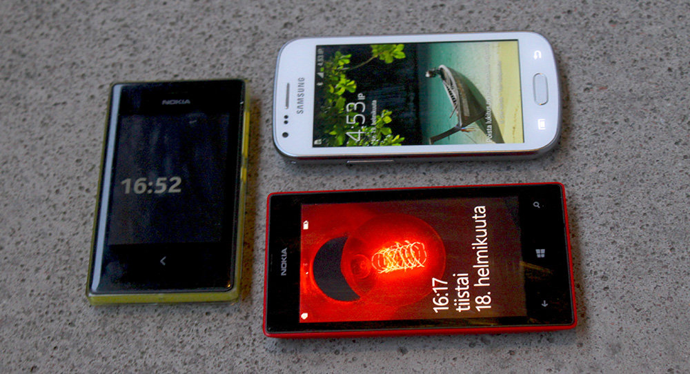 Samsung Galaxy Trend Plus, Nokia Asha 503 ja Nokia Lumia 520
