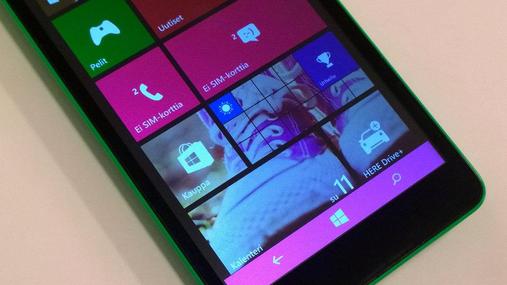 Testissä Lumia 535 - tekniikka