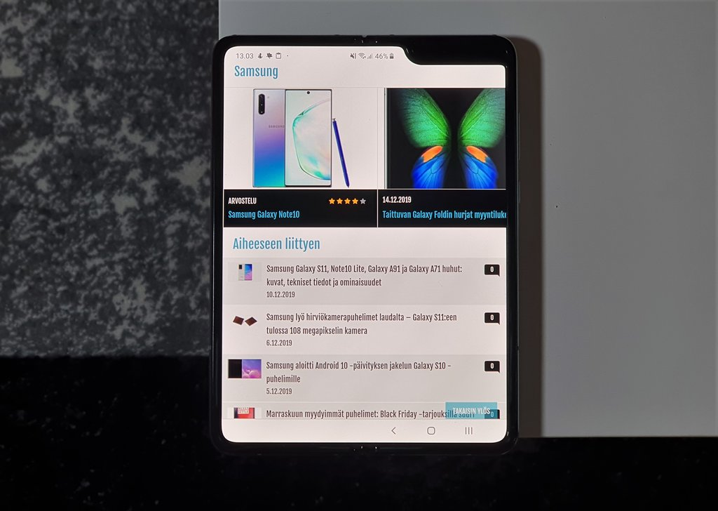 Testissä Samsung Galaxy Fold: Hyvä idea, mutta entä käytännöllisyys?