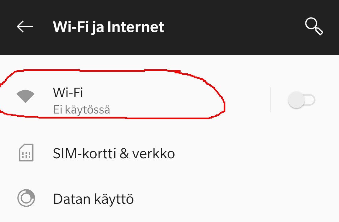 samsung wifi ei pysy päällä