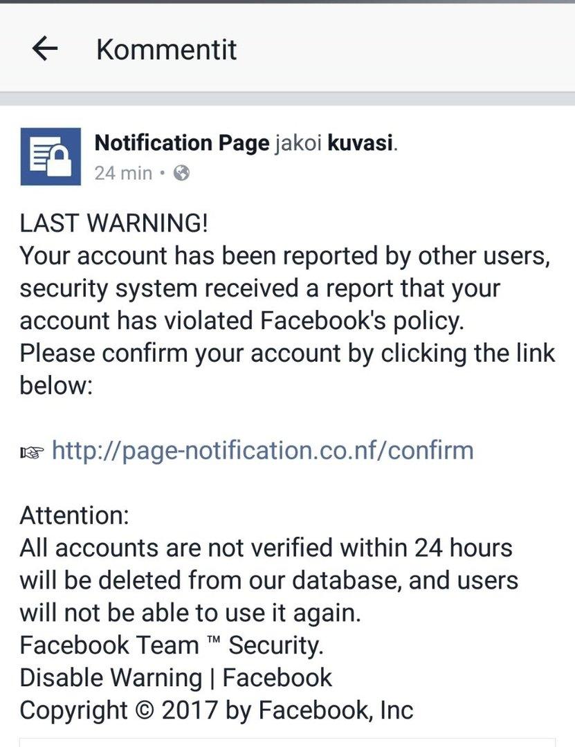 Last Warning!
