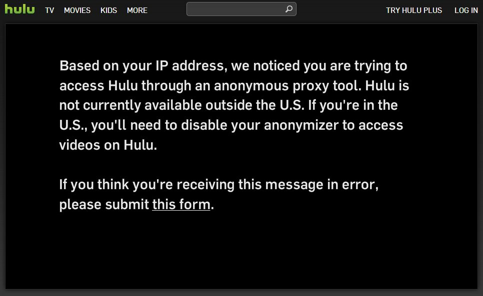 Sorry, privacy fans: Hulu now blocking VPN users - AfterDawn
