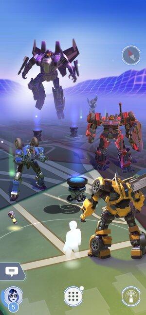 pelaajan näkyminen TRANSFORMERS: Heavy Metal pelin kartalla