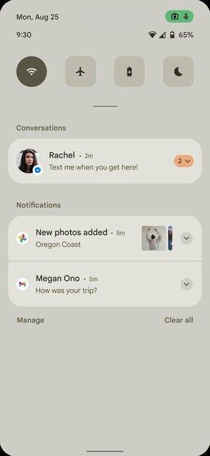 Android 12:n ilmoitusalue ei ole enää läpinäkyvä