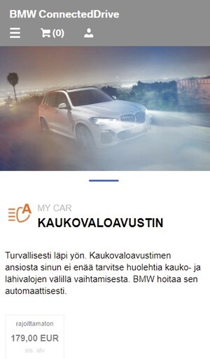 BMW kaukovaloavustin, hinta