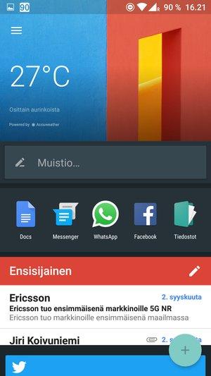 OnePlus 3 - shelf-näkymä