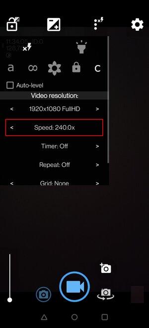 Adjust timelapse video speed