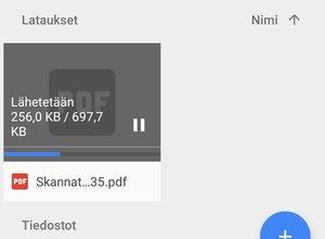 Lisätään skannattu dokumentti Google Driveen