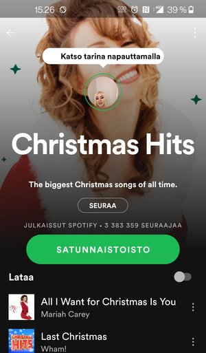 Spotify tarinat