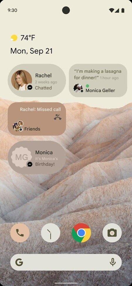 Googlen suunnittelemia widgettejä tulevaan Android 12 -käyttöjärjestelmään