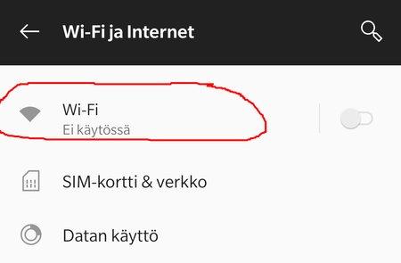 Android Pie: Automaattinen WiFi pois päältä, kohta 2