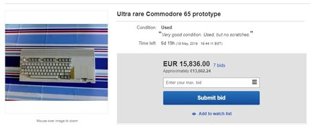 Commodore 65 on sale at eBay
