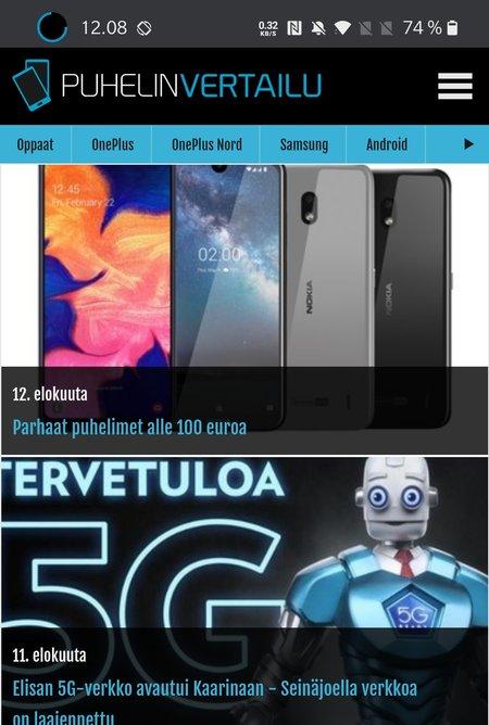 Energy Ring -sovellus OnePlus 8 Prossa