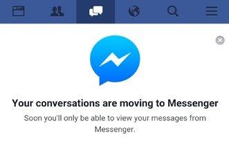 Facebook pakottaa Android-käyttäjät Messengeriin