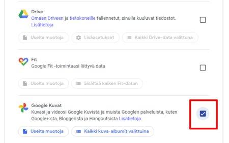 Valitse Google Kuvat