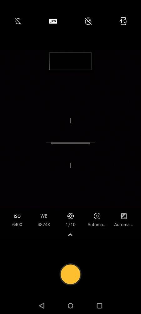 OnePlus 7T kamerasovelluksen Pro-tila