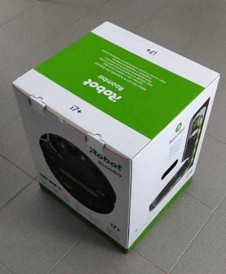 Roomba i7+ myyntipakkaus sivusta