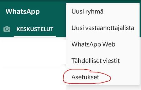 WhatsApp ilmoitusäänten vaihto