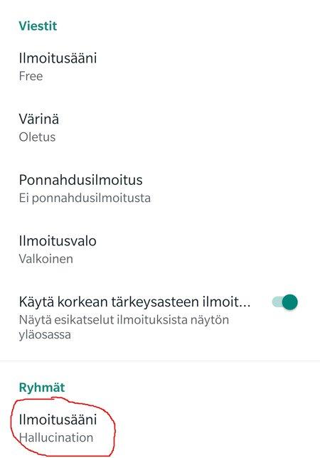 Vaihda WhatsAppin ryhmäviestien ilmoitusääni