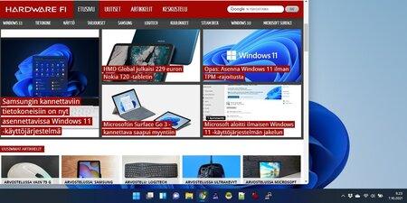 Windows 11 asennettu valmiiksi