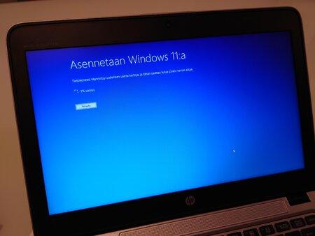 Windows 11 asentuu kannettavaan tietokoneeseen