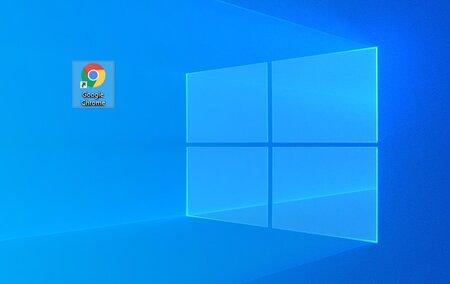 Google Chromen ikoni Windows 10 työpöydällä