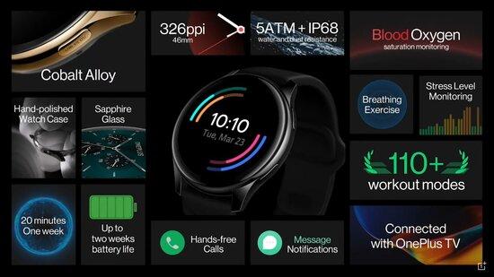 OnePlus Watchin tekniset tiedot