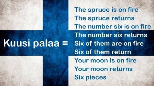 Finnish: Kuusi palaa meme
