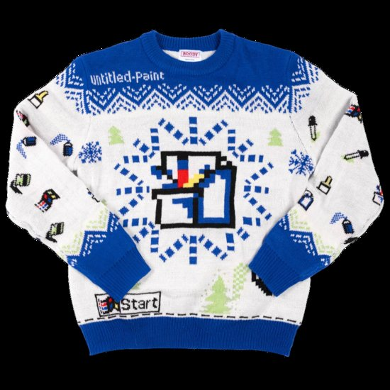 MS Paint ugly holiday sweater 2020