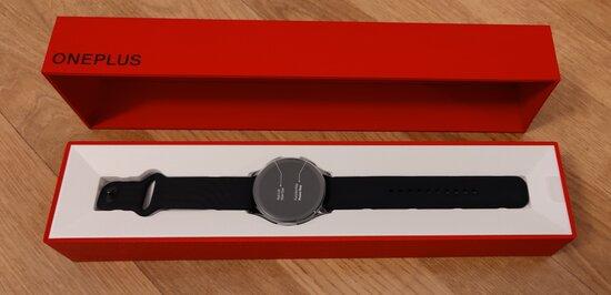 OnePlus Watch retail box, opened