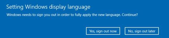 Kirjaudu ulos vaihtaaksesi Windowsin suomeksi