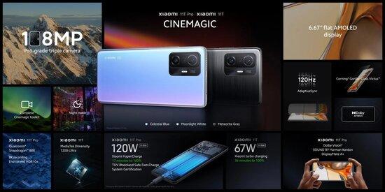 Xiaomi 11T -sarjan tärkeimmät speksit