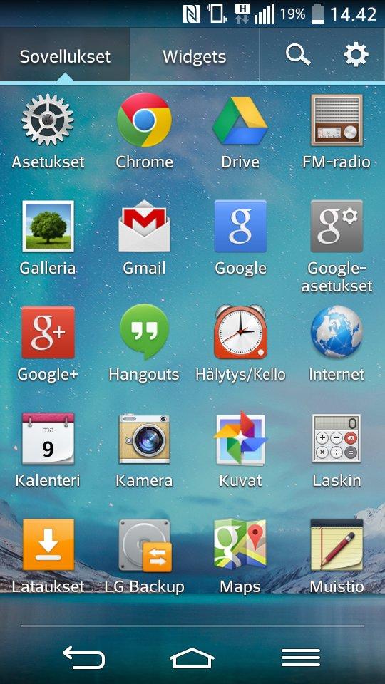 LG G2 Mini apps