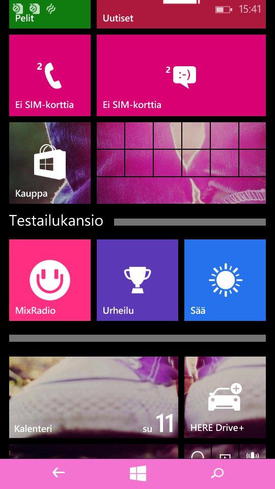 Testissä Lumia 535 - testi