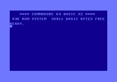 Commodore 64 aloitusruutu