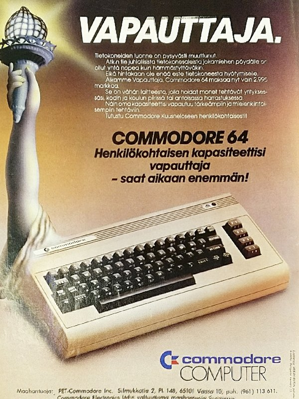 Commodore 64 -mainos