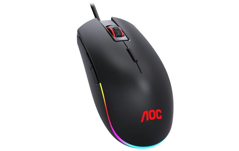 GM500 hiiri punaisella AOC logolla