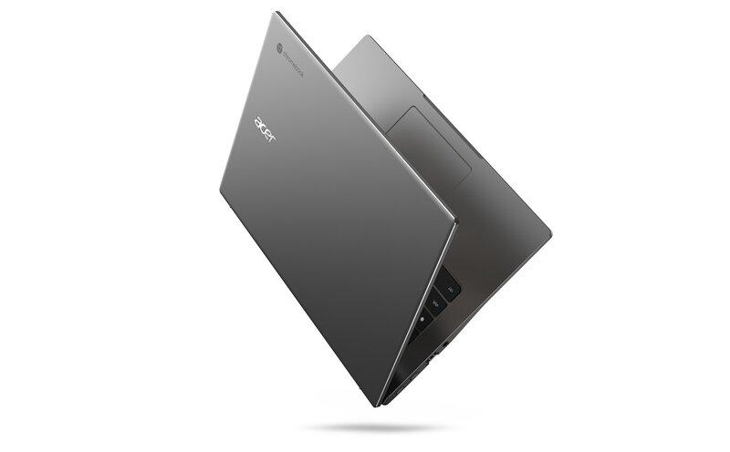 Chromebook 514 kannettavassa on kestävä metallirakenne