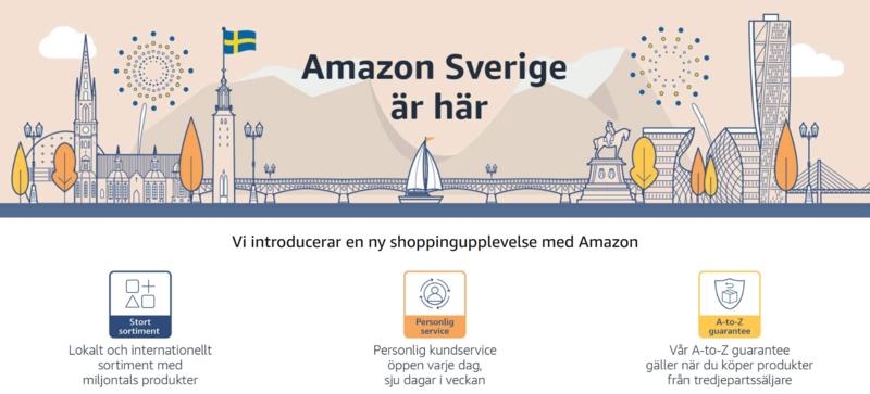Amazon se verkkokaupan tervetulosivu