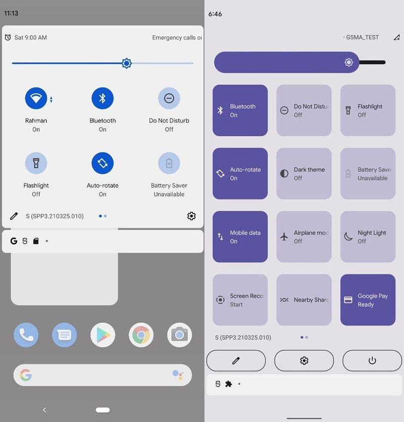 Android 12 uusistaa pikavalikko merkittävästi isommilla painikkeilla