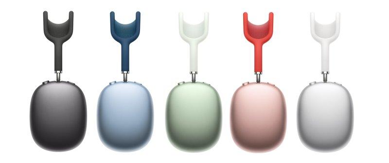 AirPods Maxit viidessä eri värissä