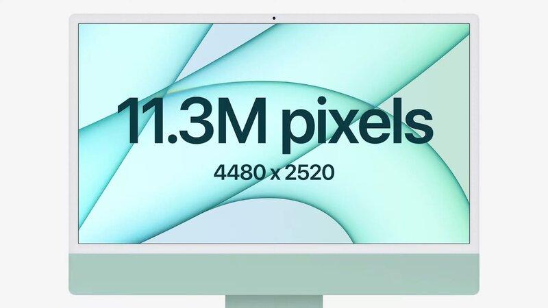 iMacin edessä on 4.5K retina näyttö
