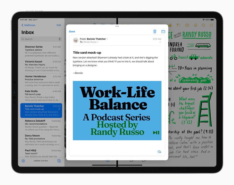 iPadOS 15 monipuolistaa sovellusten käyttöä kelluvalla sovelluksella