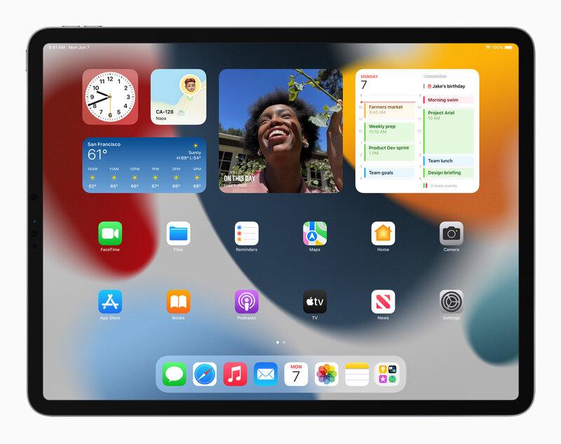 iPadOS 15 mahdollistaa widgetin asettamisen sovellusten sekaan